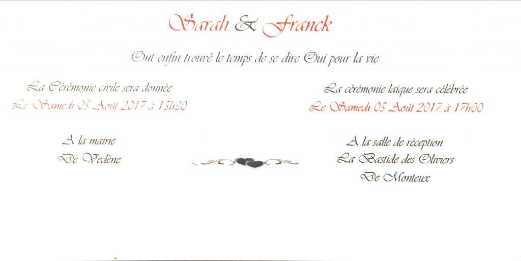 Mariage de Franck Fisseux